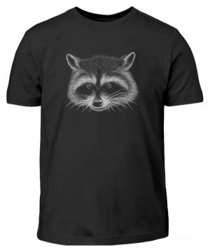 Coole freche Waschbär Illustration - Kinder T-Shirt-16