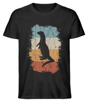 Retro Otter Fisch-Otter Silhouette - Herren Premium Organic Shirt-16