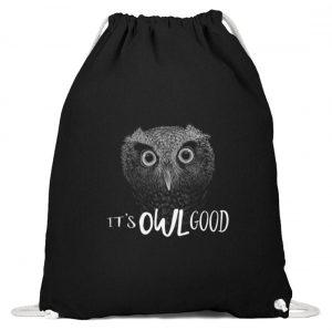 It-s OWL Good | Kritzel-Kunst-Eule - Baumwoll Gymsac-16