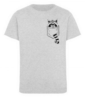 Waschbär in Deiner Brust-Tasche - Kinder Organic T-Shirt-6892