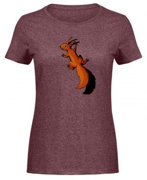 Süßes Eichhörnchen - Damen Melange Shirt-6805