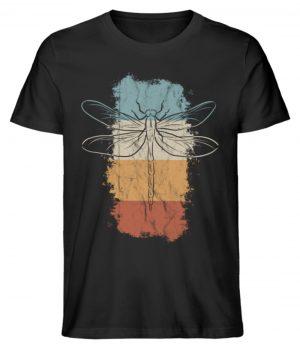 Retro Kunst Libelle | Vintage Dragonfly - Herren Premium Organic Shirt-16