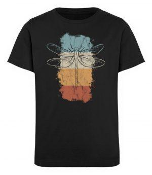 Retro Kunst Libelle | Vintage Dragonfly - Kinder Organic T-Shirt-16