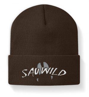 Sauwild Wildschwein Trittsiegel - Beanie-850