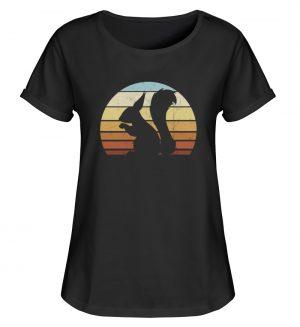 Retro Eichhörnchen Silhouette Squirrel - Damen RollUp Shirt-16