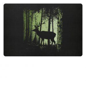 Hirsch im Zwielicht Wald - Fußmatte-16