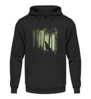 Einsamer Wolf im Zwielicht Wald - Unisex Kapuzenpullover Hoodie-1624