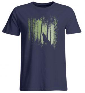 Einsamer Wolf im Zwielicht Wald - Übergrößenshirt-198