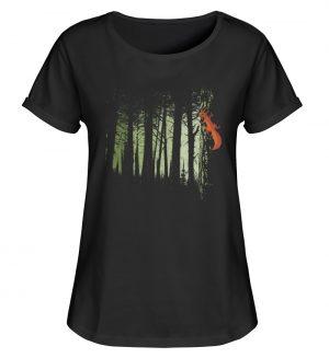 Eichhörnchen im Zwielicht-Wald - Damen RollUp Shirt-16
