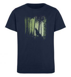 Einsamer Wolf im Zwielicht Wald - Kinder Organic T-Shirt-6887