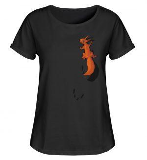 kletterndes Eichhörnchen mit Spuren - Damen RollUp Shirt-16