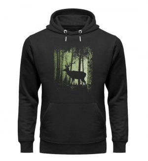 Hirsch im Zwielicht Wald - Unisex Organic Hoodie-16