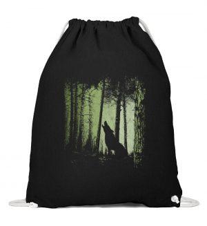 Einsamer Wolf im Zwielicht Wald - Baumwoll Gymsac-16