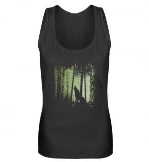 Einsamer Wolf im Zwielicht Wald - Frauen Tanktop-16