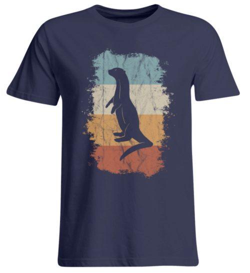 Retro Otter Fisch-Otter Silhouette - Übergrößenshirt-198