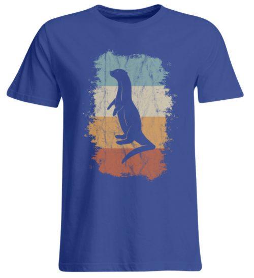 Retro Otter Fisch-Otter Silhouette - Übergrößenshirt-668