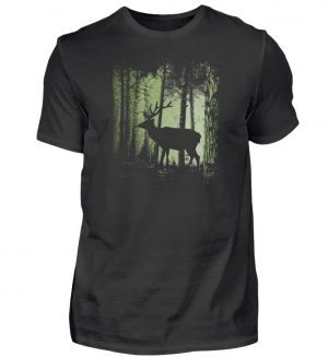Hirsch im Zwielicht Wald - Herren Shirt-16