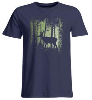 Hirsch im Zwielicht Wald - Übergrößenshirt-198