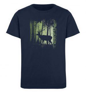 Hirsch im Zwielicht Wald - Kinder Organic T-Shirt-6887