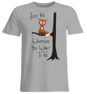 Just Be Whatever | Fuchs wie Eule - Übergrößenshirt-645