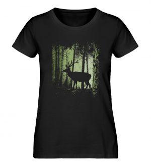 Hirsch im Zwielicht Wald - Damen Premium Organic Shirt-16