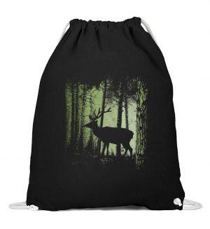 Hirsch im Zwielicht Wald - Baumwoll Gymsac-16