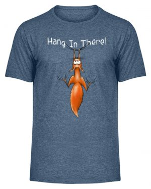 Hang In There | Lässiges Eichhörnchen - Herren Melange Shirt-6803