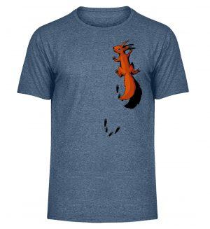 kletterndes Eichhörnchen mit Spuren - Herren Melange Shirt-6803