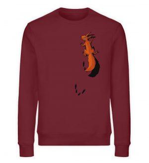 kletterndes Eichhörnchen mit Spuren - Unisex Organic Sweatshirt-6883