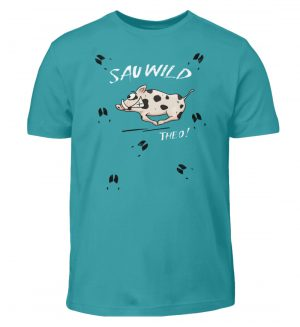 Sauwild wilde Sau | Wildschwein Theo - Kinder T-Shirt-1242