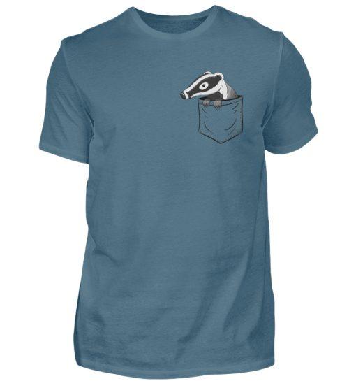 Lustig gemütlicher Dachs In der Tasche - Herren Shirt-1230