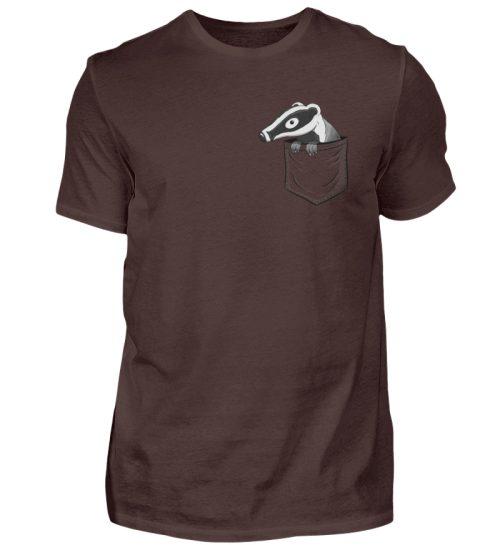 Lustig gemütlicher Dachs In der Tasche - Herren Shirt-1074