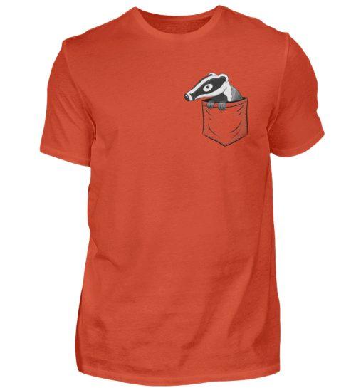 Lustig gemütlicher Dachs In der Tasche - Herren Shirt-1236