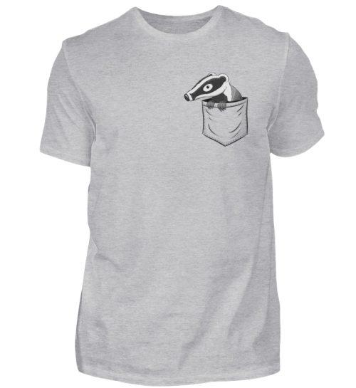 Lustig gemütlicher Dachs In der Tasche - Herren Shirt-17