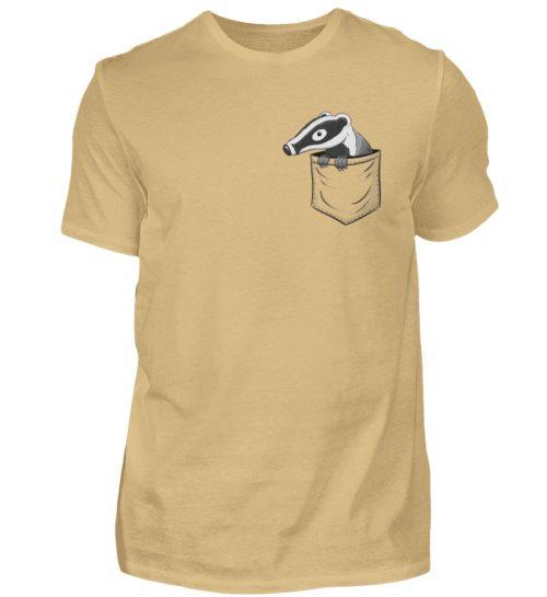 Lustig gemütlicher Dachs In der Tasche - Herren Shirt-224