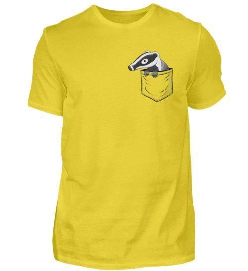 Lustig gemütlicher Dachs In der Tasche - Herren Shirt-1102