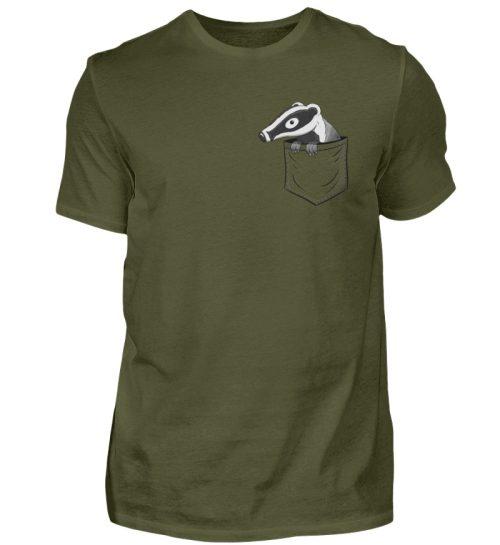 Lustig gemütlicher Dachs In der Tasche - Herren Shirt-1109