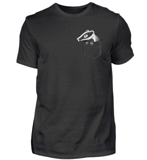 Lustig gemütlicher Dachs In der Tasche - Herren Shirt-16