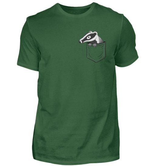 Lustig gemütlicher Dachs In der Tasche - Herren Shirt-833