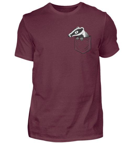 Lustig gemütlicher Dachs In der Tasche - Herren Shirt-839