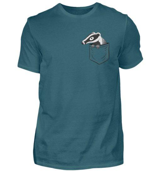 Lustig gemütlicher Dachs In der Tasche - Herren Shirt-1096