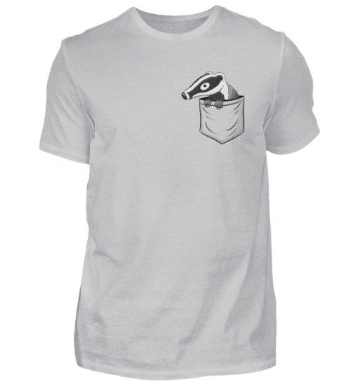 Lustig gemütlicher Dachs In der Tasche - Herren Shirt-1157