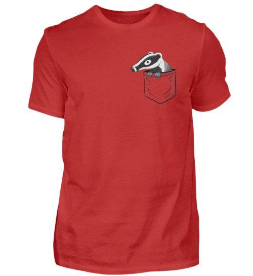 Lustig gemütlicher Dachs In der Tasche - Herren Shirt-4