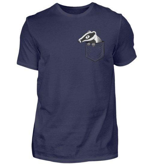 Lustig gemütlicher Dachs In der Tasche - Herren Shirt-198
