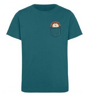 Lustiger Igel In Deiner Brust-Tasche - Kinder Organic T-Shirt-6889