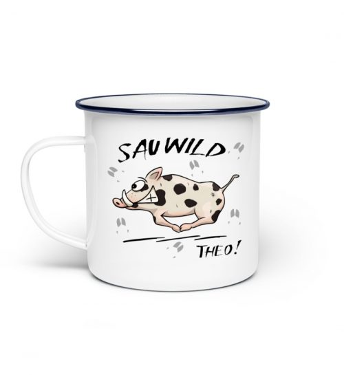 Sauwild Wildsau Theo - Emaille Tasse-3