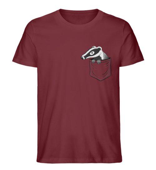 Lustig gemütlicher Dachs In der Tasche - Herren Premium Organic Shirt-6883