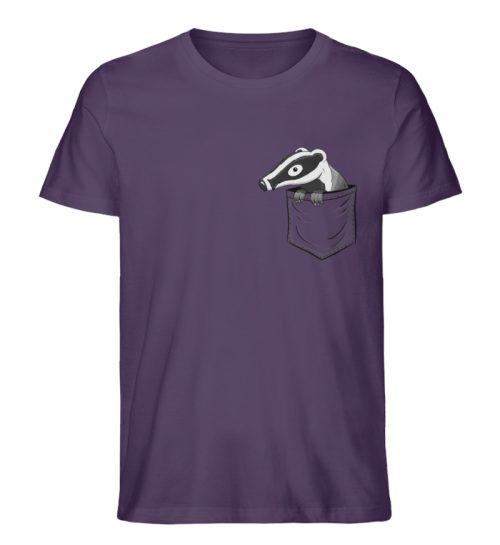Lustig gemütlicher Dachs In der Tasche - Herren Premium Organic Shirt-6884