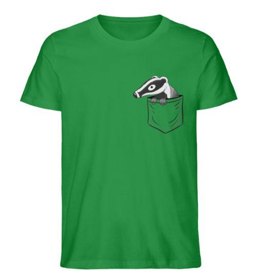 Lustig gemütlicher Dachs In der Tasche - Herren Premium Organic Shirt-6890