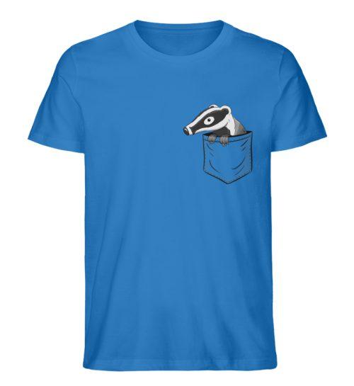 Lustig gemütlicher Dachs In der Tasche - Herren Premium Organic Shirt-6886